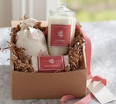 K. Hall Designs Gift Set - Cranberry #potterybarn