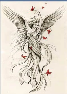 1001 ideas for a beautiful angel wing tattoo that you really g . , ▷ 1001 ideas for a beautiful angel wing tattoo that you really g . , ▷ 1001 ideas for a beautiful angel wing tattoo that you really g . Angel Tattoo Meaning, Angel Tattoo For Women, Tattoos With Meaning, Angels Tattoo, Tattoo Women, Fairies Tattoo, Tattoo Angel Wings, Chest Tattoo Wings, Angel Back Tattoo