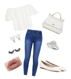 """""""Untitled #24"""" by efisamioti12 on Polyvore featuring Valentino, Jimmy Choo and Dolce&Gabbana"""