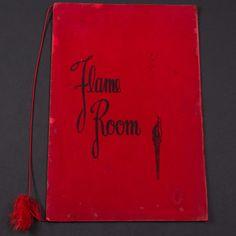 "1960's Vintage Restaurant Menu ""Flame Room"" In Radisson Hotel Golden Strings Minneapolis,MN FREE SHIPPING!"