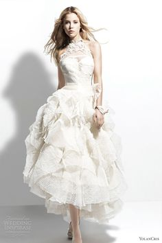 yolan cris 2013 manila halter neck wedding dress voluminous skirt, bridal, bride, wedding, wedding gown, bridal gown