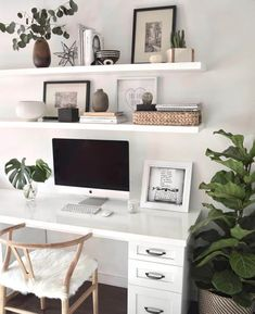 Study Room Decor, Room Ideas Bedroom, Home Decor Bedroom, Decor Room, Office In Bedroom Ideas, Ikea Bedroom Design, Cute Bedroom Ideas, Office Suite, Bedroom Apartment