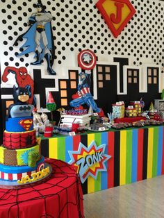 Super Hero Party   Super Jaiden Turns Seven Birthday Party by Dream Flavours Celebrations #dreamflavours