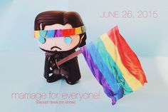 Desk Jon Snow is excited about today's decision to make gay marriage legal in all 50 states!
