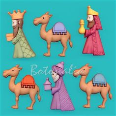 We Three Kings, Xmas Decorations, Bowser, Nativity, Felt, 3 Reyes, Ornaments, Christmas, Portal