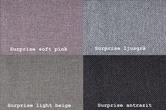 Surprise Soft Pink / Surprise Ljusgrå / Surprise Light Beige / Surprise Antrazit Från Hovden Surprise Soft Pink / Surprise Light Grey / Surprise Light Beige / Surprise Anthracite From Hovden