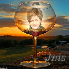 Jms-Wine glass in the sunset