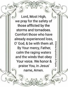 Prayer for Bad Weather Protection!