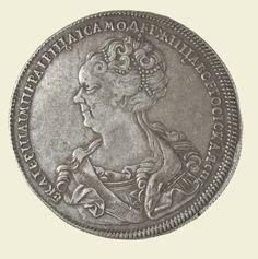 Рубль. 1725 г. Серебро.