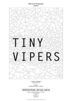 tinyvipers poster by timm knoerr