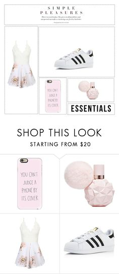 """""""Simple Pleasures"""" by lilyismyname-13 ❤ liked on Polyvore featuring Casetify, WithChic and adidas"""