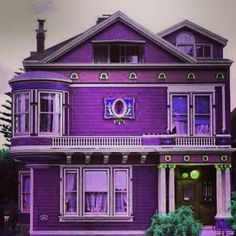 if I owned my own home, i'd paint it purple too!
