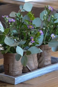 DIY Leather Vases - CURB TO REFURB