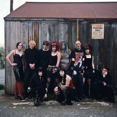 Gothic teenagers. New Westminster, British Columbia 2006