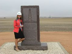 First oil found in North Dakota--Iverson Well. This is my friend, Maria's families well.