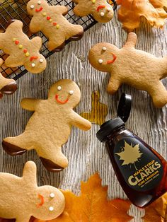 Bored of the football? Get cretive int the kicthen with our Clarks Maple Syrup Gingerbread Men Gingerbread Men, Gingerbread Cookies, Prep Kitchen, Baked Donuts, Biscuit Cookies, Christmas Treats, Maple Syrup, Clarks, Sugar
