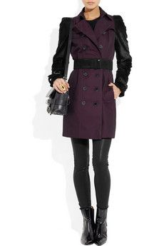 BURBERRY LONDON  Mid-length cotton-gabardine and goat hair trench coat