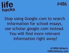Using google for essays