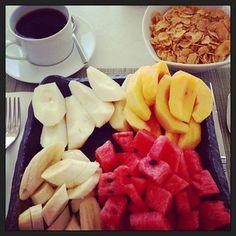 Brekfast at the Belvedere Hotel, Mykonos. Photo credit: g l Mykonos, Breakfast Ideas, Fruit Salad, Photo Credit, Bucket, Cooking, Health, Instagram, Food
