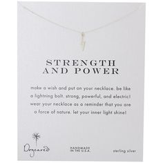 Dogeared Strength and Power Reminder Necklace ($48) ❤ liked on Polyvore featuring jewelry, necklaces, chain necklace, gold chain necklace, gold pendant, gold charms and charm bracelet