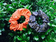 TWO Exotic Mix Orange Blue Gold Threads Hair by thriftyvicki, $5.00
