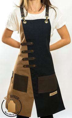 Artisanats Denim, Aprons For Men, Cool Aprons, Leather Apron, Sewing Aprons, Apron Designs, Apron Dress, Leather Craft, Diy Clothes