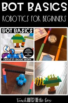 Simple Robotics Challenges for Elementary Beginners that are compatible with any driving robot Coding for Kids Beginning Coding and Robotics Lessons for STEM Hour of Code Robotics For Beginners, Coding For Beginners, Stem For Kids, Science For Kids, Stem For Preschoolers, Crafts For Seniors, Crafts For Kids, Diy Crafts, Labor Day Crafts
