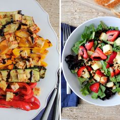 Grilled Summer Vegetables and Juustoleipa