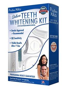 Pristine White Premium Home Teeth Whitening Kit with LED Light * Read more reviews of the product by visiting the link on the image. (This is an Amazon affiliate link)