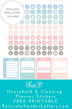 This week's theme on Return to Sender is definitely the home! These stickers are some of my favorites and thefirst set I ever made back when I got my Silhouette two years ago. I'm all …