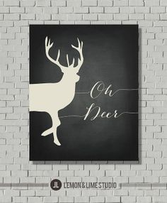 """Typografische Print """"Oh Deer"""" Küche-Kunstdruck - Kunstdruck - Wall Art - Wand Print - Angebot Print - Typografie Poster - Quote Kunstdruck"""