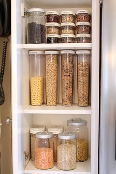Love these clear containers. From The Perfect Pantry.