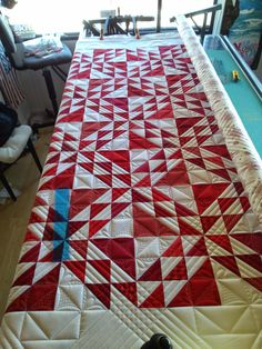 When asked to quilt two red and white quilts for an upcoming AQS book, I was honored. When given the selectionofquilt tops tochoose fro...