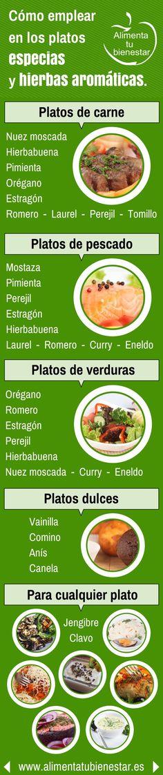 Hierbas aromáticas y especias son condimentos empleados en la cocina para dar sabor y aroma a los platos y una alternativa muy saludable al consumo de sal.
