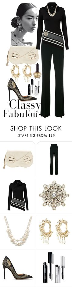 """Sophiscation !"" by shirley-degannes ❤ liked on Polyvore featuring Gianvito Rossi, Dsquared2, Venus, Heidi Daus, Anne Klein, Rosantica, Bobbi Brown Cosmetics and Anna Sui"