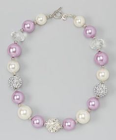 Love this Ivory & Rose Gem Necklace on #zulily! #zulilyfinds