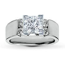 18K white gold.  Love the thick band