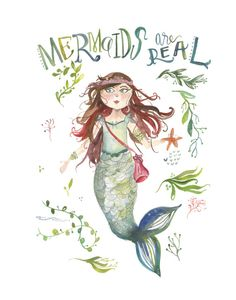 Mermaids are real PRINT by truecotton on Etsy