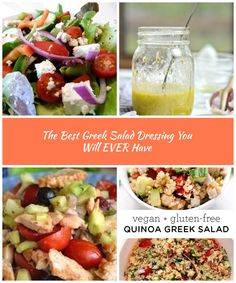 The Best Greek Salad Dressing You Will EVER Have | Diary of a Pampered Housewife greek salad The Best Greek Salad Dressing You Will EVER Have Best Greek Salad, Salad Dressing, Housewife, Vegan Gluten Free, Quinoa, Good Things, Food And Drinks, Salad Dressings, Salad Sauce