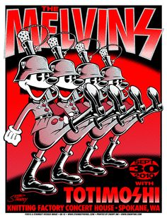 The Melvins Poster No. 2 by Stainboy Reinel