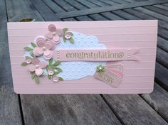 New baby Card Stampin Up by Demonstrator Zoe Tant