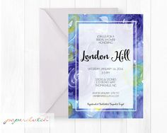 Gallery Abstract Art Invitation  Bridal Shower  by PaperclutchShop