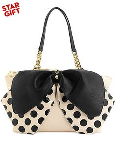 Betsey Johnson Bow Satchel - Handbags & Accessories - Macy's