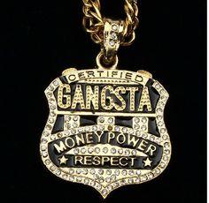 Rower gangsta money chain hiphop necklace hip hop jewelry pendant diamond necklace