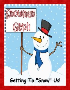 Winter FREEBIE: Snowman Glyph Activity - Pinned by @PediaStaff – Please Visit  ht.ly/63sNt for all our pediatric therapy pins