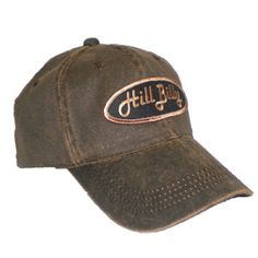 This Week's Special - HillBilly Brand: Brown Faux Leather Cap with Black/Brown Patch - $12.95
