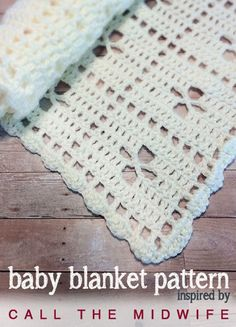 "The Midwife Baby Blanket | Free Crochet Pattern by Little Monkeys Crochet | This baby blanket is inspired by a blanket from BBC's ""Call the Midwife"" Christmas Special. Free crochet pattern."