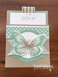 Watercolor Wings Card Holder by The Speckled Sparrow for Eureka Stampers Blog Hop