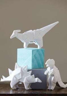 Dinosaur (porcelain) oragami for decor #pinparty