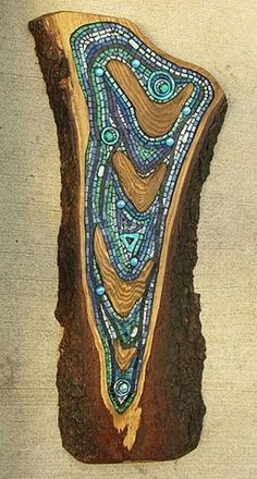 Split log, amazing mosaic